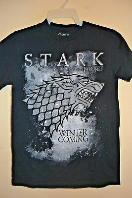 Game Of Thrones/House Stark-Mens Small-Winter Is Coming-Licensed Short Sleeve