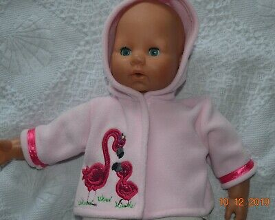 Dolls Clothes Jacket Fits  Baby Born , Annabell  Tiny Treasures Or Sim Flamingo