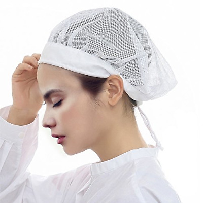 Kitchen Hair Net Chef Vented Mesh New Cooling Net Sweatband Reusable Adjustable