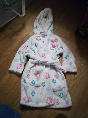 Girls Peppa Pig Dressing Gown 11/2 - 2 years