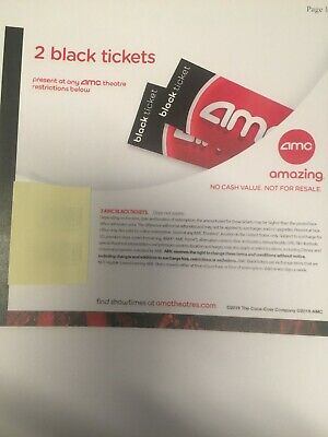 6 AMC Black Movie Tickets - No Expiration