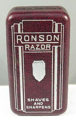 "Vintage Ronson Safety Razor W/Original Box ""Shaves Sharpens"" Has Blade Case2"