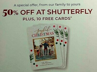 Shutterfly Photo Coupon 50% off Everything Plus TEN Ornament EXP 01-31-20