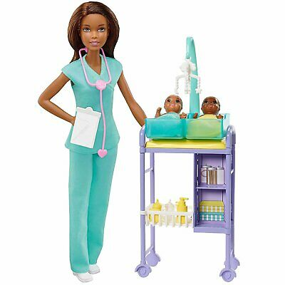 Barbie You can Be Anything Baby Doctor Playset with Dolls and Accessories