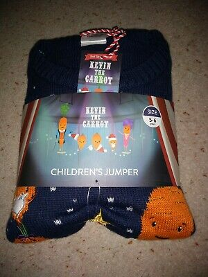 Kevin The Carrot Children's Christmas Jumper Age 5/6 COST PRICE - POST TOMORROW