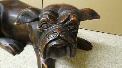 Large  Carved Chinese Wooden Temple  foo dog