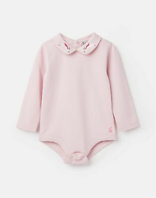 Joules Baby Snazzy Luxe Bodysuit in PINK RABBIT Size 9min12m