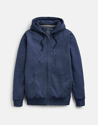 Joules 207033 Zip Through Hooded Sweatshirt in FRENCH NAVY MARL Size S