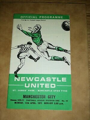 NEWCASTLE UNITED v MANCHESTER CITY 1970/71 PROGRAMME WITH LEAGUE REVIEW *SUPER*