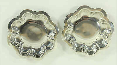 M. Fred Hirsch Co. Pair of Sterling Silver Butter Pats 40.4g Luise Rainer Estate