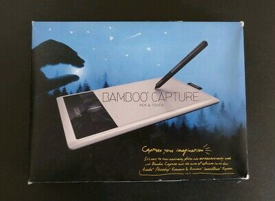 Wacom Bamboo Capture Pen & Touch Digital Image Photo Editing Tablet Kit CTH-470
