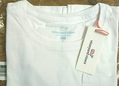 NEW Vineyard Vines Women's White Pocket Tee Long Sleeve Shirt Size XS , X-Small