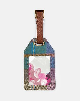 Joules Womens Its Mine Tweed Luggage Tag in PASTEL CHECK TWEED in One Size