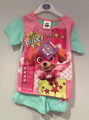 New Paw Patrol Girls Shorty Pjs Age 2/3 Yrs Pups Rule