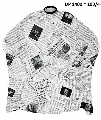 DINCER - Barber/Salon Capes Gowns - CLASSIC PATTERNED NEWSPAPER - Hair Cutting