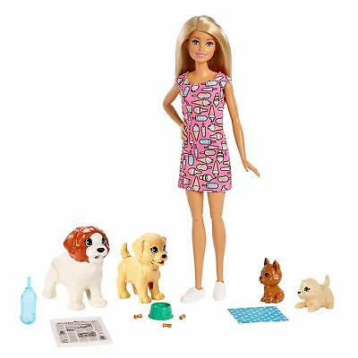 Barbie Fxh08 Doggy Daycare Doll, Blonde And Pets Playset, With Puppy That Poops