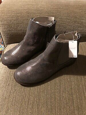 Girls Next Stunning Grey Silver Sparkly Ankle Boots New Older Girls Size 5