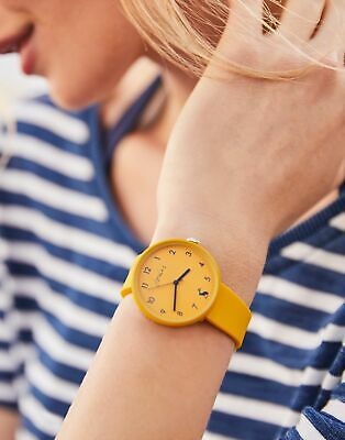 Joules Womens Coast Ladies Silicone Strap Watch in ANTIQUE GOLD in One Size