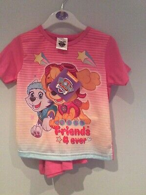 New Paw Patrol Shorty Pjs Girls 2/3 Yre  Friends Forever