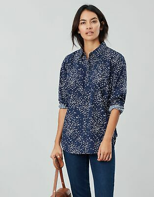 Joules Womens Lucie Woven Shirt in GRAZE ANIMALS Size 14