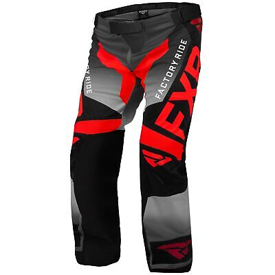FXR Cold Cross RR Mens Snow Pants Red/Black/Charcoal LG
