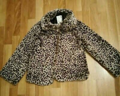 Girls  Marks and Spencer leopard print coat age 9-10