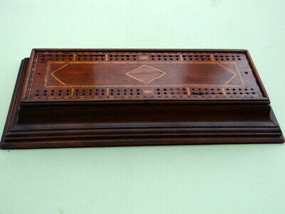 Vintage Large Inlaid Crib Board With Pull Out Storage For Cards