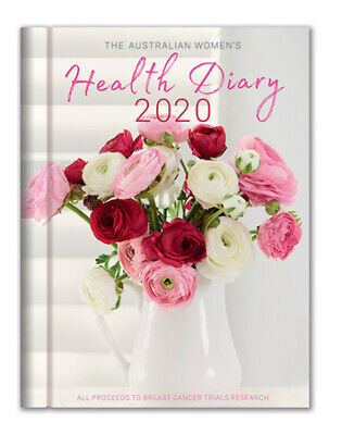 2020 Australian Womens Health Diary / Journal - Week To View A5 Hardcover *New*