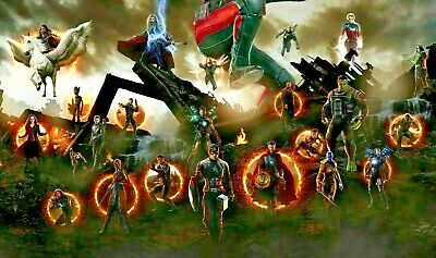 Marvel Avengers  Superheroes  Canvas Wall Art Picture Print Framed 20x30 INCHES