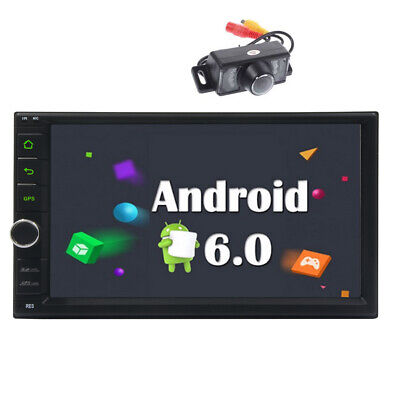 """7"""" 2Din Android Car WiFi Radio Stereo GPS Navigation Multimedia Player -USA+Cam"""