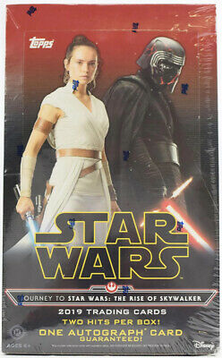 2019 STAR WARS: THE RISE OF SKYWALKER Trading Cards - Factory Sealed HOBBY Box