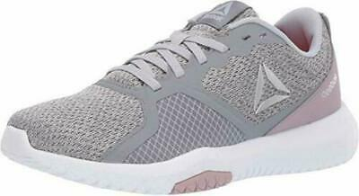 SAVE Reebok Women's Flexagon Force Cross Trainer Cold Grey/Lilac Fog Memory Tech