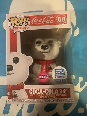 NEW Funko POP! Flocked Coca-Cola Polar Bear #58 Ad Icons  Limited Edition