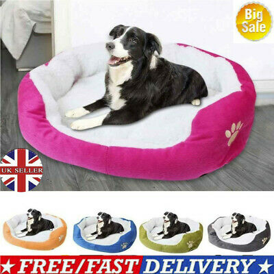 Large Small Pet Dog Cat Bed House Plush Soft Warm Nest Mat Kennel Mat Washable