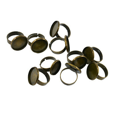 10pc Ring Blanks Settings Bezel Trays 18mm Ring Pads Jewelry Making Findings
