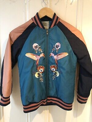 Next Girls Teal Blue Embroidered Sporty Baseball Bomber Jacket Age 10 Years