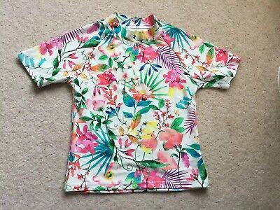Girls Swim Top / Rash Vest / Age 7 Years BNWOT Next Swim TShirt Flowered Top