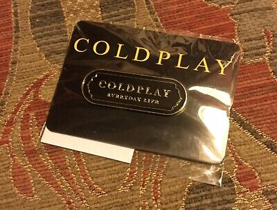 COLDPLAY Everyday Life- Exclusive Metal Pin Badge-New Sealed