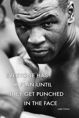 Mike Tyson - Everyone Has A Plan Boxing Poster