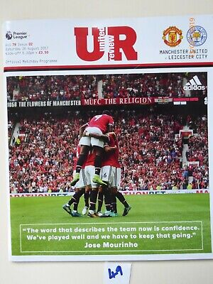 Manchester United v Leicester City Match Day Programme 26th August 2017