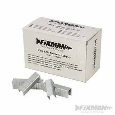 Galvanised Staples 11.2 x 8 x 1.16mm Fixman 5000 pack