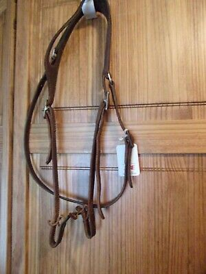 Vintage Circle Y Western Brown Leather Headstall - Bridle - one ear fixed