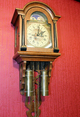 Old Wall Clock Friesian Dutch Clock Vintage Warmink Wuba Moonphase