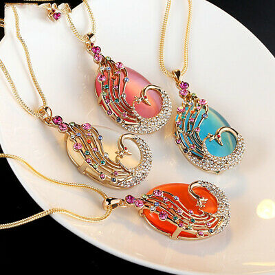 Ladies Glamour Alloy Inlaid Malachite Color Pendant Necklace Accessories Gift