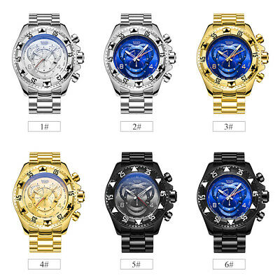 Temeite Men Fashion Sports Watches Big Dial Quartz Business Male Wristband C8V1