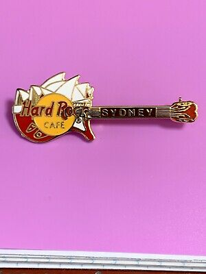 Hard Rock Cafe pin Sydney Opera House on Red guitar
