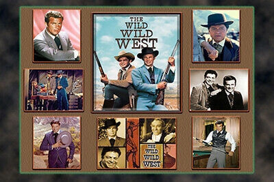 """4""""x6"""" MAGNET PRINT- """"WILD WILD WEST"""" FEATURING ROBERT CONRAD. And cast collage"""