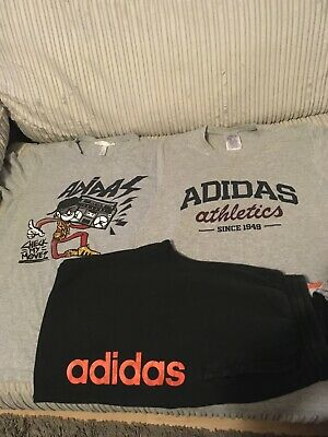 boys Adidas full tracksuit bundle age 15/16 years t shirts and bottoms. Reduced