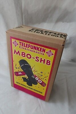 Telefunken M80-SHB dynamic microphone w/ integrated mount clamp (black grille)