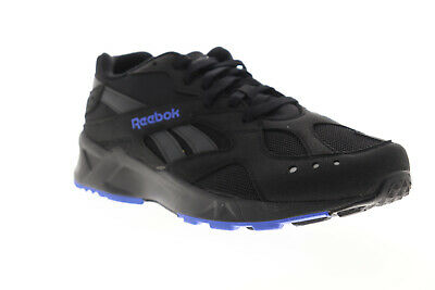 Reebok Aztrek DV3913 Mens Black Suede Canvas Athletic Lace Up Running Shoes